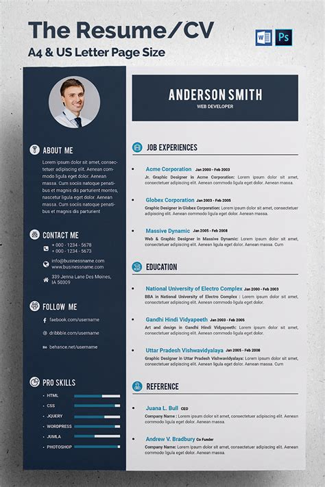 Web Developer Cv Template by Cv Template For A Web Developer Choice Image Certificate