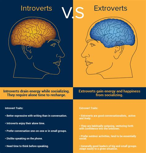 introverts vs extroverts visual ly