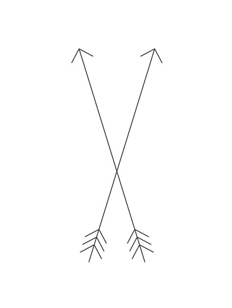 two arrows crossing tattoo meaning crossed arrows friendship tattt sassy and