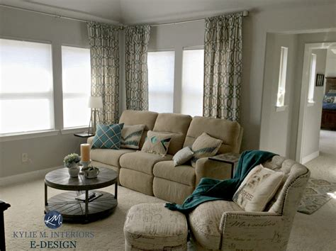 sherwin williams repose gray  living room  beige