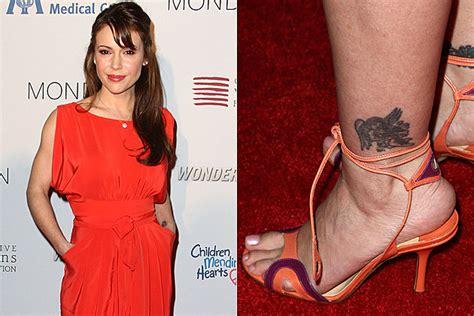 alyssa milano wrist tattoo alyssa bad tattoos
