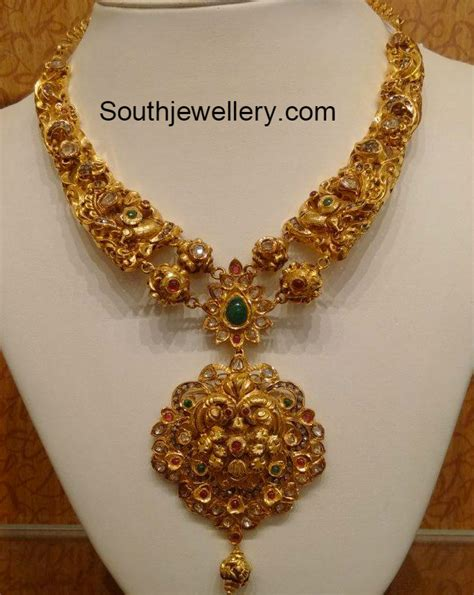 Jewellery Gold Design Angti by Ruby Necklace Jewelry Designs Page 7 Of 35