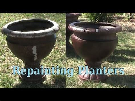 Planters And Pots painting old planters youtube