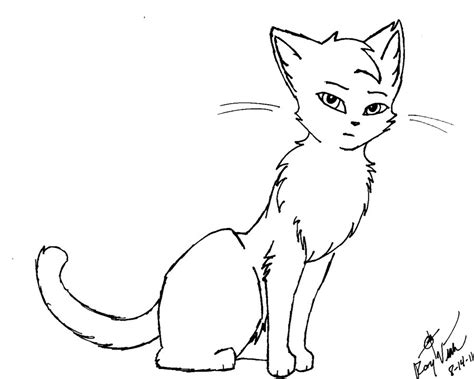 kitten outline coloring page outline of a cat az coloring pages