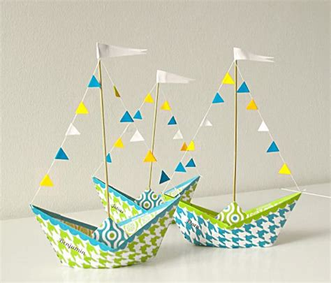 Paper Ship - paper boat for centerpieces diy assemblage