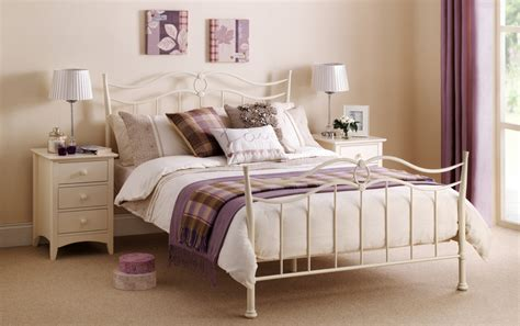 white metal beds abdabs furniture katrina stone white metal bed frame and