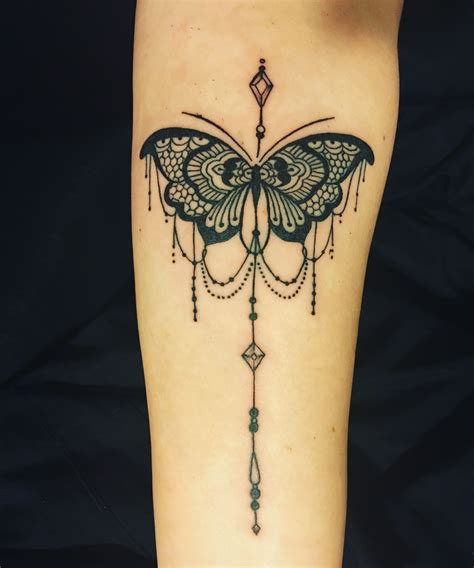 papillon tattoo lace and chandelier style butterfly ideas