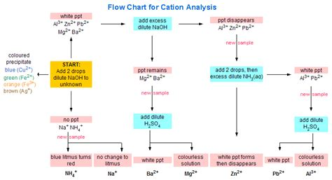 qualitative analysis chemistry flowchart chemistry gt inorganal cation new gt page 2