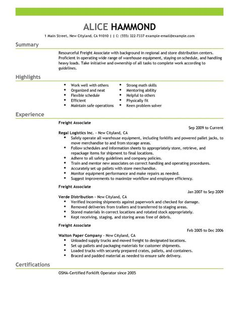 Freight Sle Resume by Packaging Sales Sle Resume Employee Payroll Template Software Project Coordinator Cover Letter