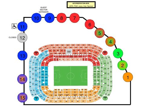 ingressi san siro mappa parcheggi auto stadio san siro stagione 2012 2013