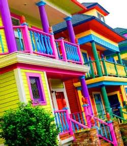 colorful houses painting fear of color the optical vision site