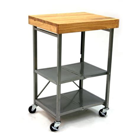 kitchen cart and island origami 174 folding kitchen island cart 224145 kitchen dining at sportsman s guide