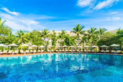 hamacas de piscina hamacas y sombrillas vistas desde la piscina descargar