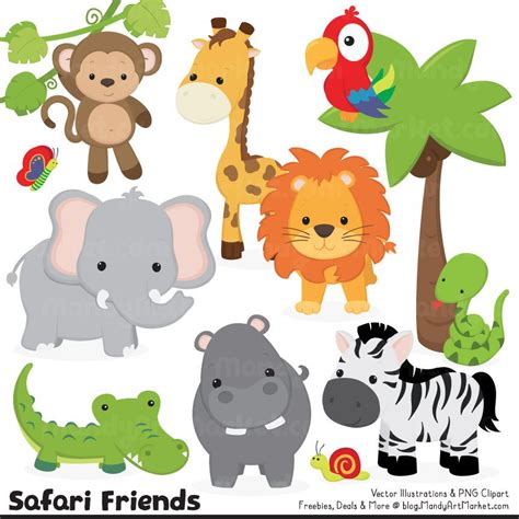 animal clipart jungle animal clipart safari clipart jungle