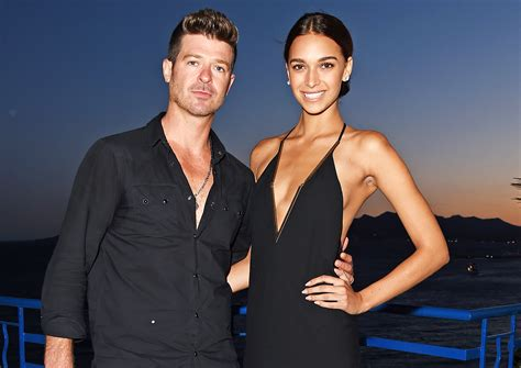 april love geary robin thicke robin thicke and girlfriend april love geary welcome first