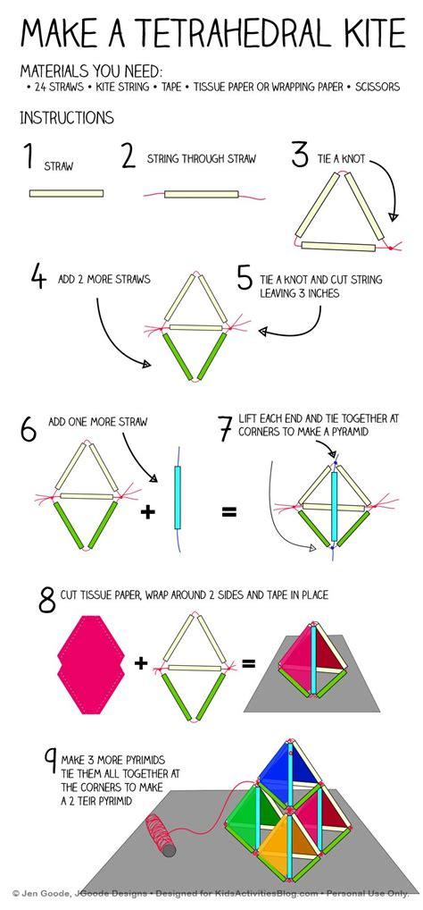 How To Make A Kite Using Paper - make a pyramid kite kites craft and activities