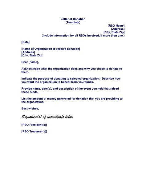 Donation Notification Letter Memorial Donation Letter Template Letter Template 2017