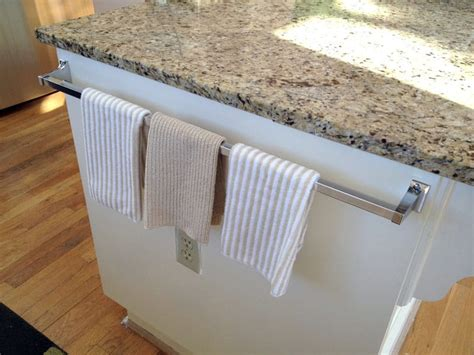 kitchen towel bar sink 17 exles of towel holder the most of your kitchen
