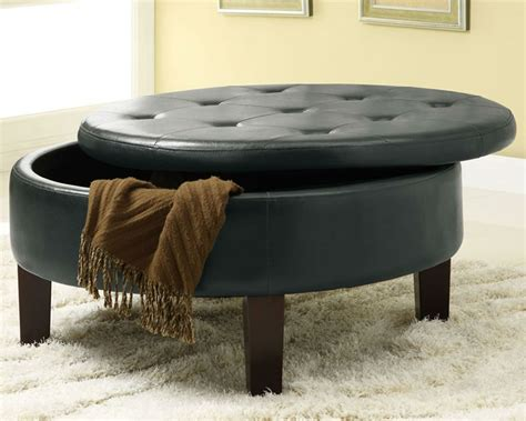 storage round ottoman furniture chicago for round storage ottoman