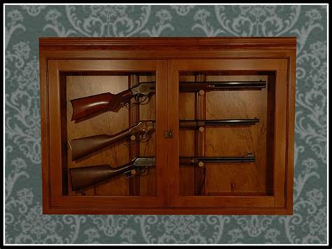Rifle Wall Hangers Images Wall Mounted Gun Cabinet