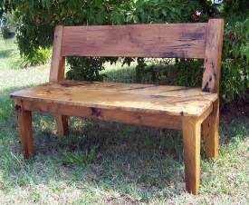 Rustic Wood Storage Bench Wooden Bench With Back Nanobuffet Com