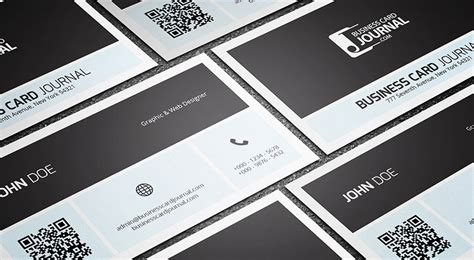 business card with qr code template simplistic metro qr code business card template by
