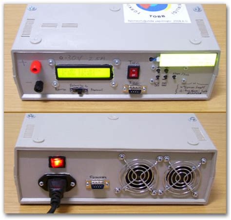 digital bench power supply microcontroller based linear power supply unit