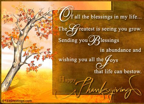 Sending You Thanksgiving Blessings  Free Family eCards