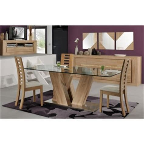 Oak Dining Table With Glass Top Sciae Season 51 Glass Top Dining Table In Oak Furniture123