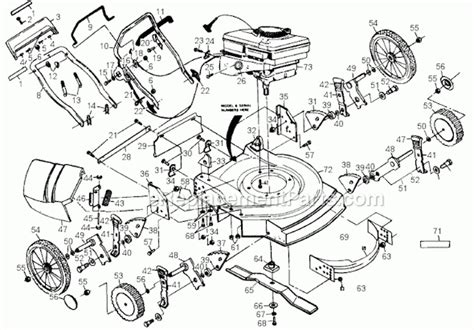 honda lawn mower parts diagram honda lawn mower engine diagram hrr honda push mower bag