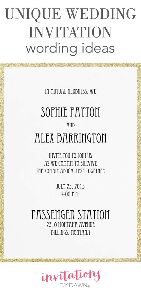 Marriage announcement verbiage