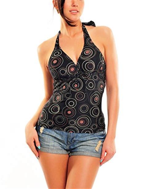 18 Yuna Tops Big Size Jumbo Fit Xl push up tankini top 1074ta w300 f3914 black brown printed size 18 xl apparel accessories