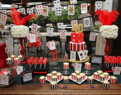 vegas themed birthday party ideas 40th birthday party casino theme 19 photos by