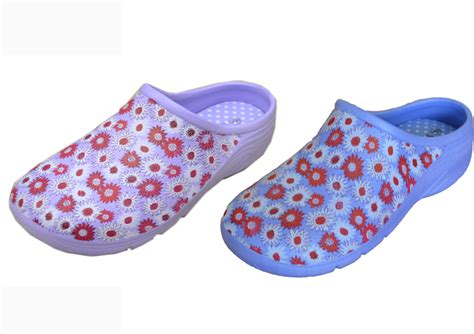 Flat Shoes De Verre Sun Flower rakuten briers womens gardening footwear sunflower print garden clogs various colours
