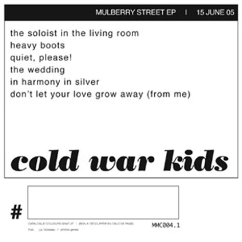 shelf in the room lyrics cold war mulberry ep was named after restaurant in fullerton california