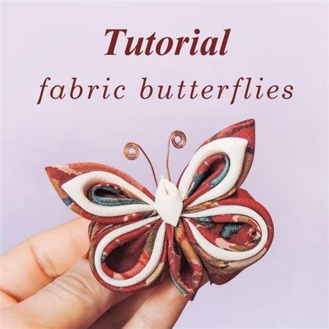 Organza Butterfly Tutorial | fabric butterflies tutorial dyi silk organza kanzashi