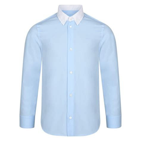 light sleeve shirts lanvin boys light blue shirt with white collar chocolate