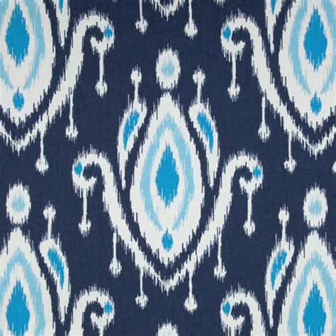 discount drapery fabric by the yard surat indigo blue ikat print cotton drapery fabric