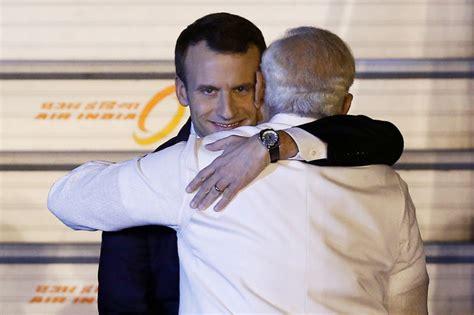 emmanuel macron modi emmanuel macron s evil grin while hugging modi has taken