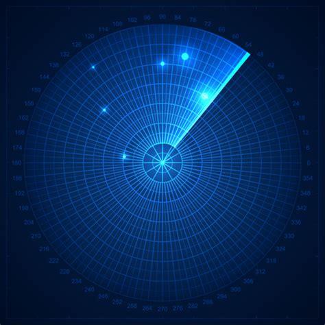 radar elements blue background vector vector background