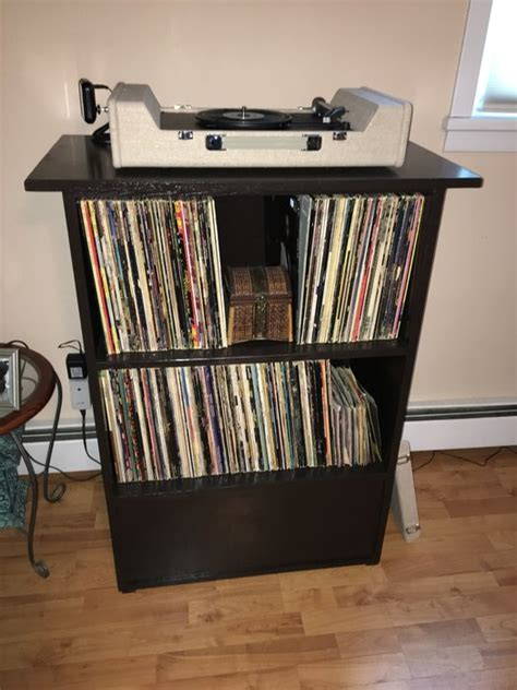 record player storage record player display and storage by redesigningwood