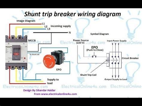 shunt breaker wiring diagram wiring diagram and
