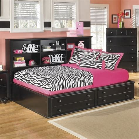 furniture jaidyn bookcase bed jaidyn wood bookcase mates bed in black b150