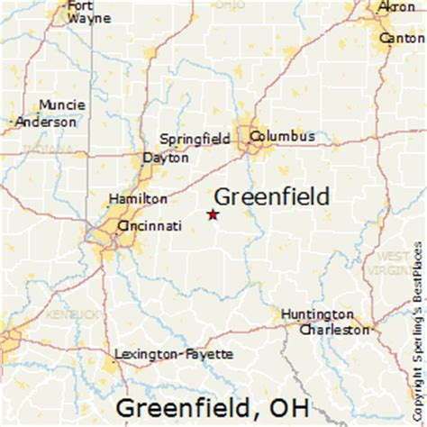 greenfield ohio map best places to live in greenfield ohio