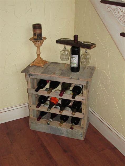 reclaimed wood wine cabinet custom made pallet wood 12 bottle wine rack floor or