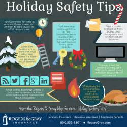 holiday safety infographic rogers gray insurance