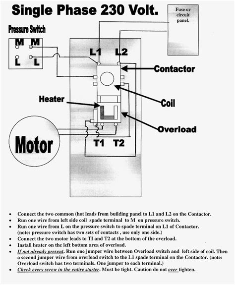 single phase magnetic starter wiring diagram wiring