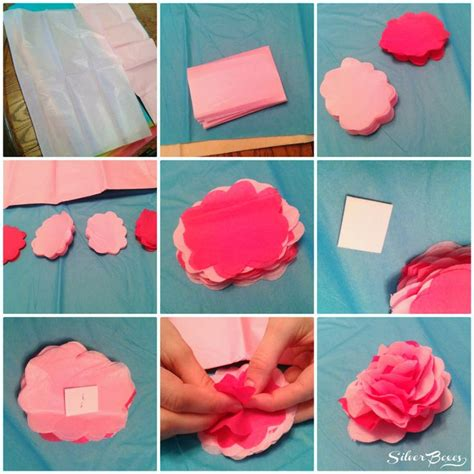 tissue paper flower craft ideas silver boxes how to make tissue paper flowers crafts