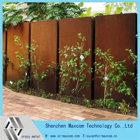 Decorative Garden Wall by Decorative Garden Wall Feature Corten Steel Screen