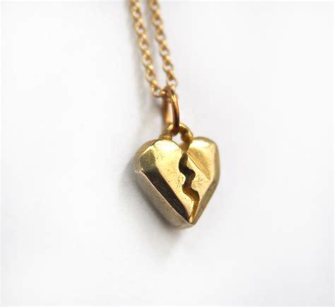 geometric broken pendant necklace
